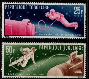 TOGO Scott 543-544 Space stamps