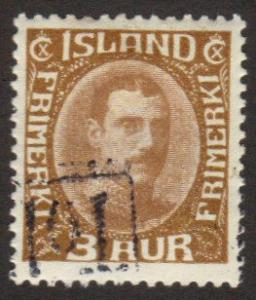 Iceland #109 used king Tollur