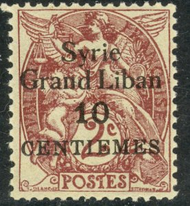 SYRIA 1923 10c on 2c Blanc Issue Sc 104 MH