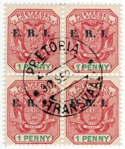 (I.B) Transvaal Postal : ERI Overprint 1d