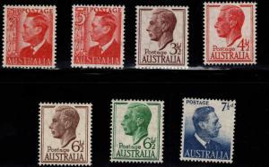 Australia Scott 234-239 MNH** set