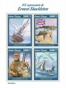 Guinea-Bissau - 2019 Explorer Ernest Shackleton - 4 Stamp Sheet - GB190505a
