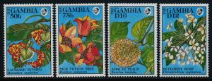 Gambia 1238-9,45-6 MNH Flowers