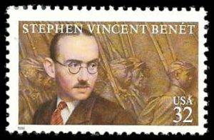 PCBstamps  US #3221 32c Stephen Vincent Benet, MNH, (6)
