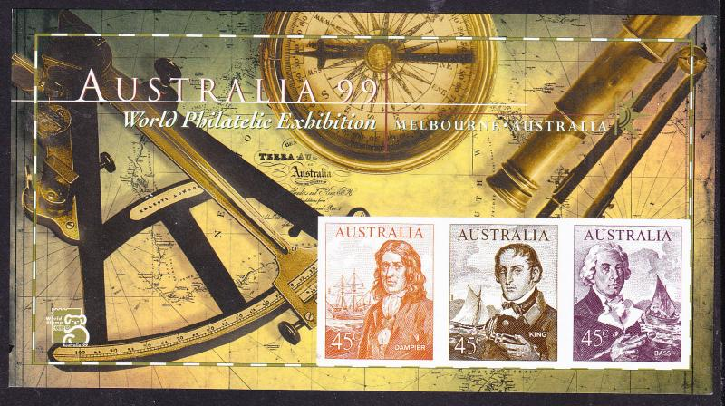 Australia 1999 IMPERF Sheets (2) Famous Navigators   VF/NH