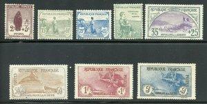 FRANCE SCOTT# B3/10 WAR ORPHANS COMPLETE SET MINT HINGED-SCOTT VALUE $2520.00