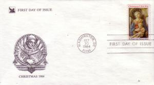 US FDC Sc.# 2063 Christmas 1984 L906
