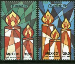 MEXICO 1328-1329 Christmas Holidays MNH