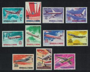 San Marino Contemporary Aircrafts 11v SG#732-742 MI#792=801+829