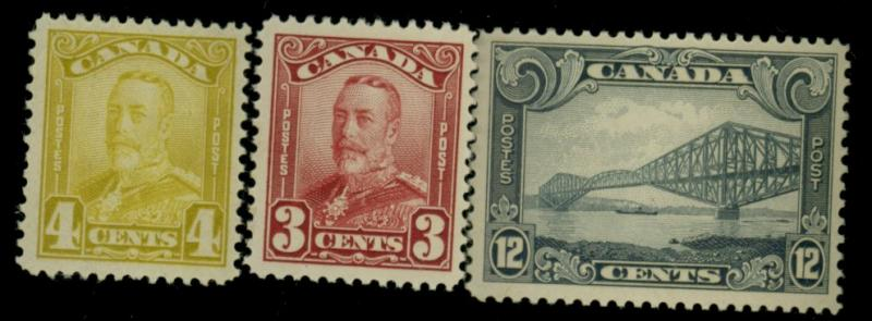 Canada #151-2 156 MINT F-VF OG LH Cat$102.50