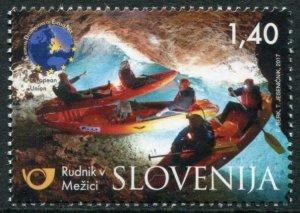 HERRICKSTAMP NEW ISSUES SLOVENIA Sc.# 1214 Tourism 2017, Mezica Mine