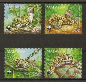 Malaysia 1995 Cats MNH