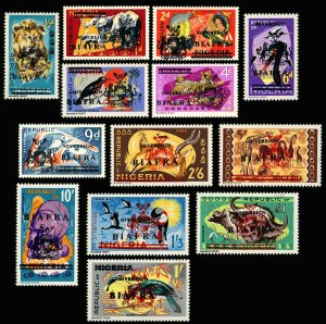 BIAFRA Scott 4-16 M/LH 1968 Wildlife Overprints on Nigeria Set of 13-See descrip