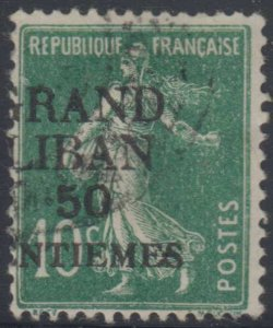 LEBANON 1924 Sc 3 MAJOR VARIETY, HORIZONTALLY SHIFTED OVPT USED SCARCE