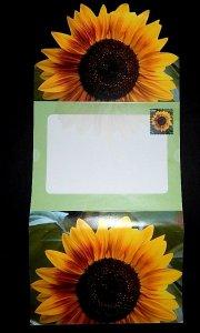 #U665 42c Sunflower - unused - FOLDED LETTER SHEET