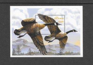 BIRDS -  GAMBIA #2515  CANADA GOOSE  MNH