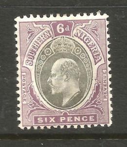 SOUTHERN NIGERIA  1904-09  6d   KEVII    MLH    SG 27