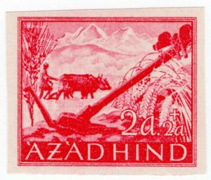(I.B) India Cinderella : Azad Hind 2a + 2a (proof)