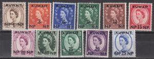Kuwait Scott 129-139 Mint NH (Catalog Value $27.35)
