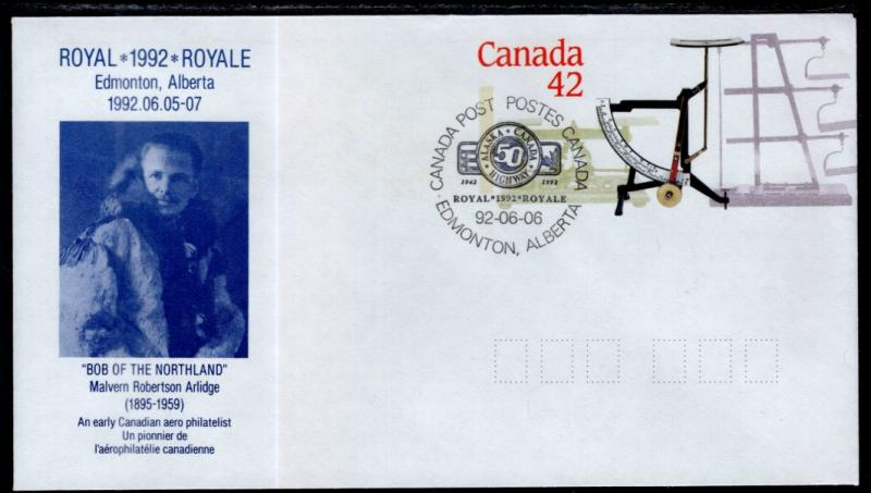 Canada Unitrade U130 Postal Envelope Alaska Canada Highway Event Cancel VF
