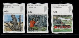 Greenland Sc 482-4 2006 Science stamp set mint NH