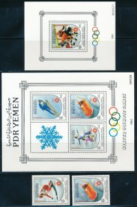 Yemen - Sarajevo Olympic Games MNH Sports Set (1984)