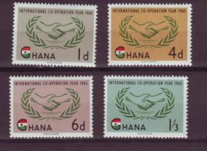 J46 jl,s stamps 1965 mnh africa ghana icy set/4