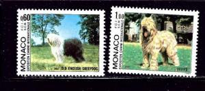 Monaco 1336-37 MNH 1982 Dogs