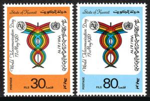 Kuwait 849-850, Postfrisch Welt Telekommunikation Tag, 1981