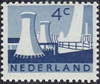 Netherlands # 399 mnh ~ 4¢ Cooling Towers