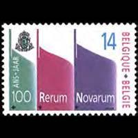 BELGIUM 1991 - Scott# 1401 Encyclical Cent. Set of 1 NH