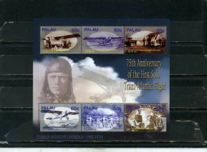 PALAU 2003 Sc#721 HISTORY OF AVIATION SHEET OF 6 STAMPS MNH