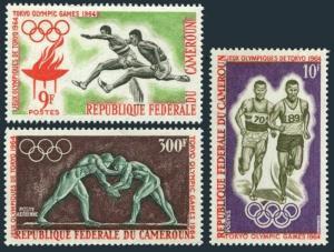 Cameroun 403-404,C49,MNH.Michel 410-412. Olympics Tokyo-1964.Hurdling,Runners,
