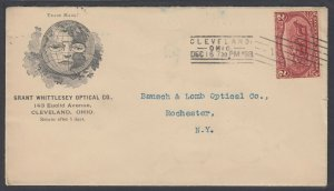 US, 1898 2c Trans-Miss Optical Advertising cover to Rochester NY