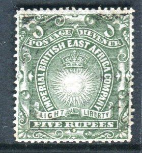 BRITISH EAST AFRICA-1890-95 5r Grey Green.  A fine used example Sg 19