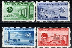 Turkey #1051-4 MNH CV $8.35 (X7725)