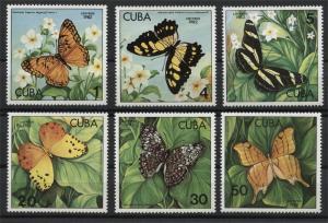 CUBA, BUTTERFLIES MNH SET 1982