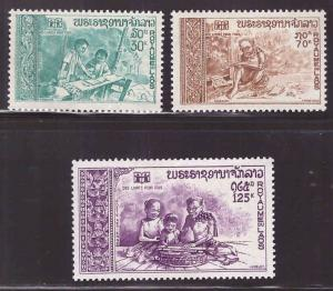 LAOS Scott 226-227, C87 MNH** International Book Year 1972 set
