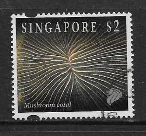 SINGAPORE, 683, USED, MUSHROOM CORAL