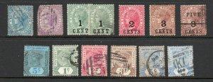 British Honduras - (13) Early QV MH & Used (few flts)   -   Lot 0921271