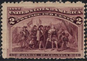 U.S. Scott #231 2-Cent Stamp - Mint NH Single