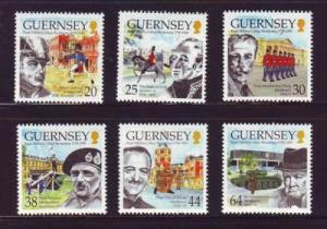 Guernsey Sc 691-6 1999 200th anniv Sandhurst stamps mint NH