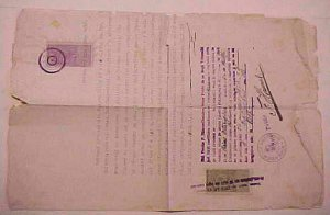 ROMANIA   5 REVENUE DOCUMENTS 1910-1923 ALL WITH REVENUE STAMPS