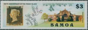 Samoa 1990 SG846 $3 Stampworld London Penny Black MNH