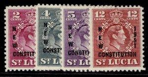 ST. LUCIA GVI SG167-170, complete set, M MINT.