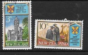 NEW ZEALAND SG897/8 1969 OTAGO UNIVERSITY FINE USED
