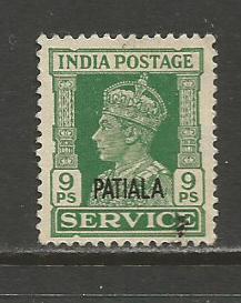 India-Patiala  #O66  Used  (1940)  c.v. $0.75