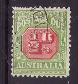 Australia-Sc#J57-used 1/2p Postage Due-1931-36-