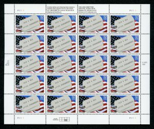 US Scott 2966 Prisoners and missing in Action Mint pane of 20 MNH