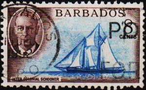 Barbados. 1950 8c S.G.276 Fine Used